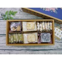 【六入手工餅乾禮盒 A 】酥糖約24顆+太妃餅8片+手工餅乾2包|460克|盒